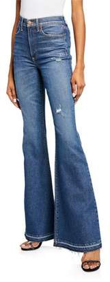 Alice + Olivia JEANS Beautiful High-Rise Bell-Bottom Jeans