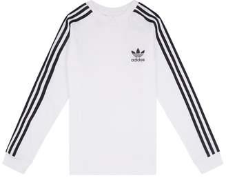 adidas 3-Stripe Long-Sleeve T-Shirt