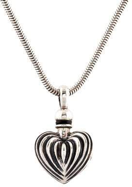 Lagos Fluted Heart Perfume Bottle Pendant Necklace