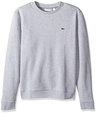 Lacoste Men's Crewneck Fleece with Textu Rib Trim Sweatshirt