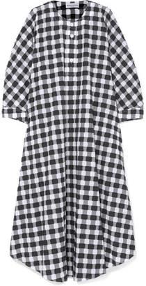 Sonia Rykiel Gingham Cotton-poplin Midi Dress - Black