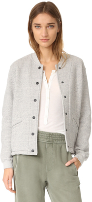 Current/Elliott The Classic Varsity Jacket $278 thestylecure.com
