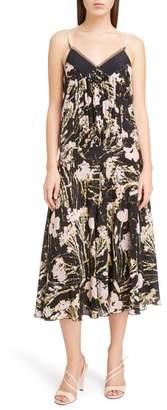 N°21 N21 Floral Print Silk Midi Dress