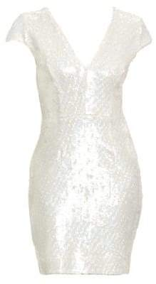 Dress the Population Zoe Cap Sleeve Sequin Dress
