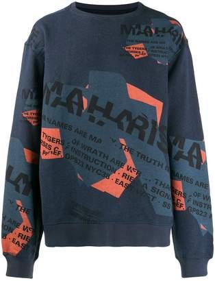 MHI logo printed sweater