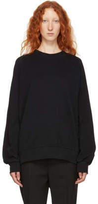 Ann Demeulemeester Black Velvet Back Sweatshirt