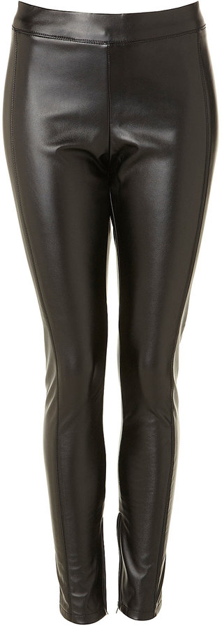 Shiny Faux Leather Skinny Trousers