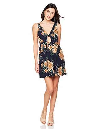 Elise Bloom Womens Dresses-Summer Spaghetti Strap Tie Front Button Down Sexy Backless Midi Dress