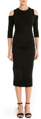 Women's Michael Stars Cold Shoulder Midi Dress $98 thestylecure.com