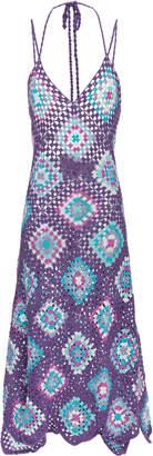 My Beachy Side Strappy Crochet Maxi Dress