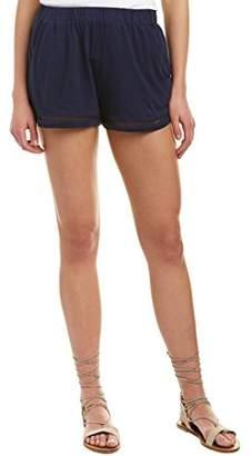 Michael Stars Women's Cotton Modal Shorts with Ladder Trim