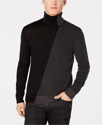 Armani Exchange Men Diagonal Colorblocked Turtleneck Sweater