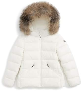 Moncler Aimeet Hooded Down Jacket with Genuine Fox Fur