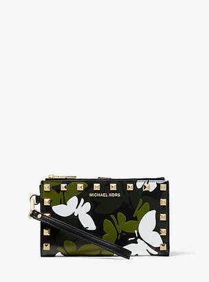 Michael Kors Adele Butterfly Camo Leather Smartphone Wallet