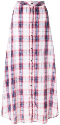 Diesel Black Gold checked a-line skirt
