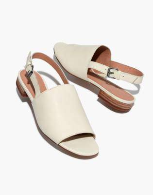 Madewell The Noelle Slingback Sandal in Leather