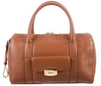 Lauren Ralph Lauren Textured Leather Handle Bag