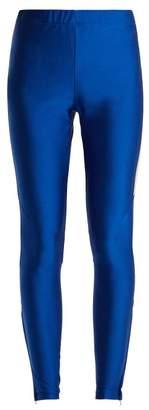 Gucci Contrast Stripe Stretch Jersey Leggings - Womens - Blue