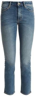 MiH Jeans Nikki High Rise Slim Leg Cropped Jeans - Womens - Denim