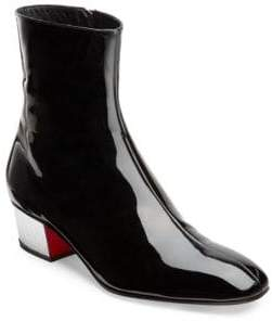 Christian Louboutin Palace 40 High Gloss Leather Booties