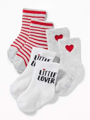 Old Navy Graphic Crew Socks 3-Pack for Baby