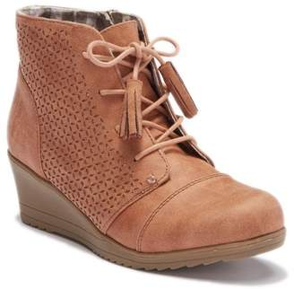 Report Winnie Faux Suede Perforated Lace-Up Bootie (Little Kid & Big Kid)
