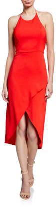 Alice + Olivia Kristy High-Low Halter Dress