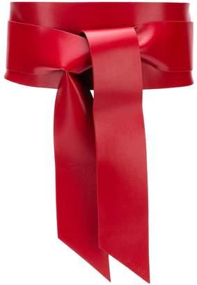 Pinko tie front belt