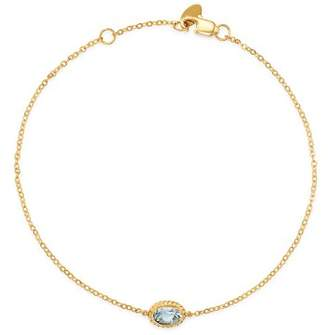 Bloomingdale's Aquamarine Oval Bezel Set Bracelet in 14K Yellow Gold - 100% Exclusive