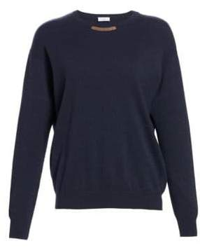 Brunello Cucinelli Monili Mousta Cashmere, Virgin Wool& Silk Sweater