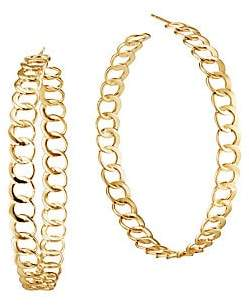"Lana 14K Yellow Gold Wide Bond Link Hoops/2.25"""
