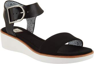 ED Ellen Degeneres Leather Wedge Sandals - Stella