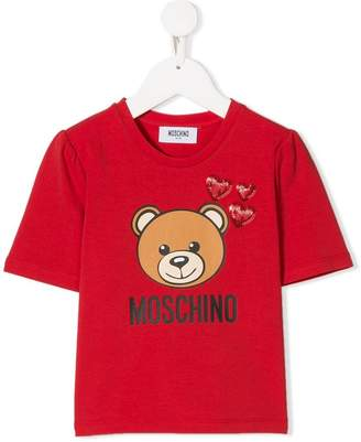 2f227c75 Moschino Kids heart appliqué toy print T-shirt