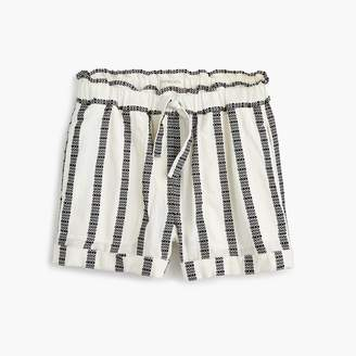 J.Crew Girls' pull-on short in textured stripes