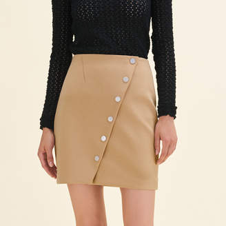 Maje Short skirt with press studs