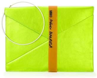 MM6 MAISON MARGIELA metallic envelope clutch