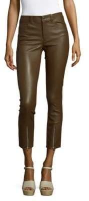 Helmut Lang Zip Accent Leather Pants