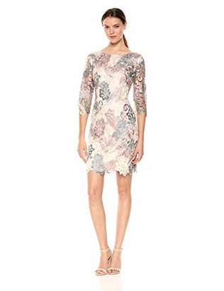 Eliza J Women's Lace 3/4 Sleeve Sheath Dress