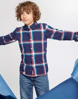 Joules Clothing French Navy Tartan Lachlan Checked Shirt 32yr