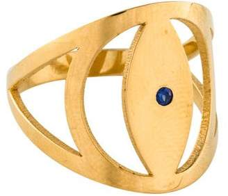 Jennifer Zeuner Jewelry Synthetic Sapphire Evil Eye Gabby Ring