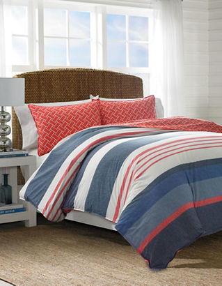Nautica Hawes Striped Cotton Duvet Cover and Sham Set $106 thestylecure.com