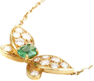 Van Cleef & Arpels Heritage  18K 0.99 Ct. Tw. Diamond & Emerald Necklace