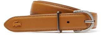 Lacoste Women's L.12.12 Engraved Tongue Buckle Leather Belt