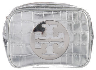 Tory Burch Tory Burch Embossed Leather Cosmetic Bag