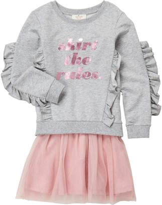 Kate Spade Girls 4-6x) Two-Piece Skirt the Rules Top & Tutu Skirt Set