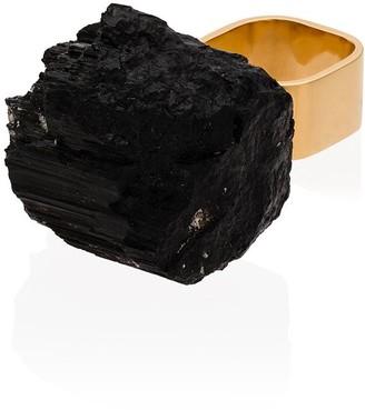 Märta Larsson 18kt gold vermeil and tourmaline stone ring