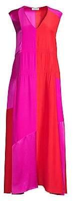 AMUR Women's Lotta Sleeveless Silk Maxi Dress