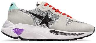 Golden Goose multicoloured Glitter star suede trainers
