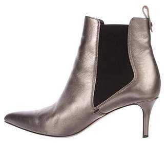 Veronica Beard Leather Pointed-Toe Boots