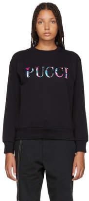 Emilio Pucci Black Bonded Logo Sweatshirt